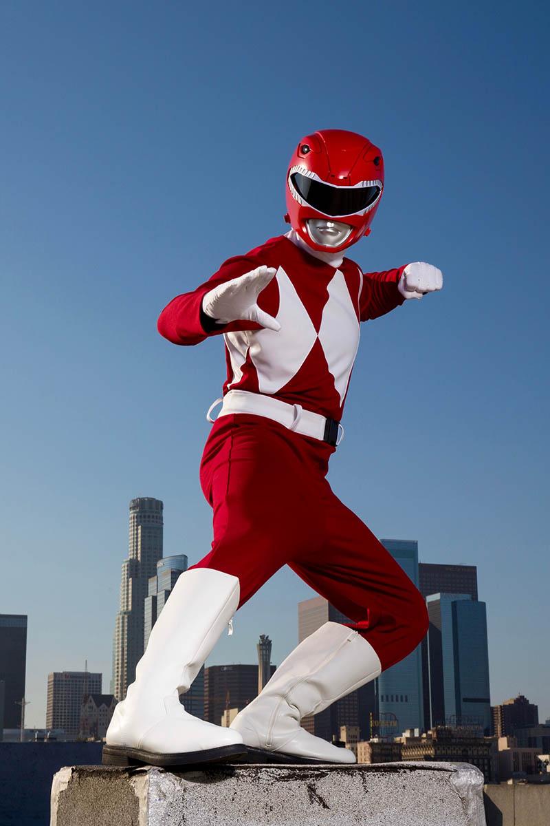 Superhero power ranger party character for kids in houston